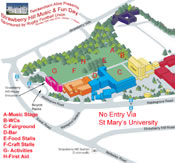 Strawberry Hill Music and Fun Day 2014 Map